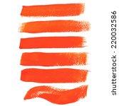 orange ink vector brush strokes | Shutterstock .eps vector #220032586
