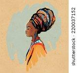 portrait of beautiful african...   Shutterstock .eps vector #220037152