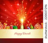 vector happy diwali crackers... | Shutterstock .eps vector #220037296