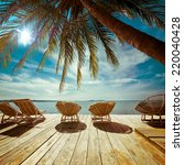 amazing tropical beach... | Shutterstock . vector #220040428