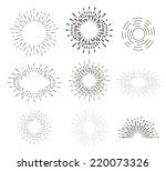 Collection Of Vector Retro Sun...