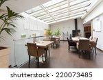 restaurant interior  | Shutterstock . vector #220073485