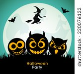 illustration of halloween party ... | Shutterstock .eps vector #220076122