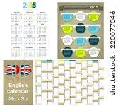 english calendar for year 2015  ...   Shutterstock .eps vector #220077046