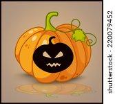 pumpkin  banner and background... | Shutterstock .eps vector #220079452