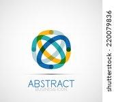 line design logo  geometric...   Shutterstock . vector #220079836