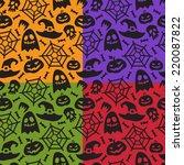 set of simple halloween... | Shutterstock .eps vector #220087822