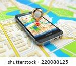 mobile gps navigation concept.... | Shutterstock . vector #220088125