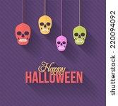 halloween background  hanging... | Shutterstock .eps vector #220094092