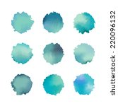 blue background watercolor.... | Shutterstock .eps vector #220096132