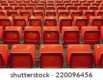 empty stadium red seats before... | Shutterstock . vector #220096456