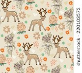 cute seamless pattern with... | Shutterstock .eps vector #220103572