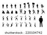 businessman in various poses... | Shutterstock .eps vector #220104742