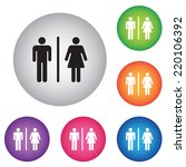 male female restroom symbol... | Shutterstock .eps vector #220106392