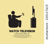 human watching television... | Shutterstock .eps vector #220117615