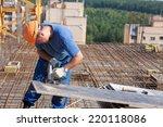 carpenter builder man worker... | Shutterstock . vector #220118086