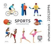 infographic health sport and... | Shutterstock .eps vector #220120996
