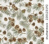 Seamless Pattern With Pine...