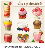 set of food icons. berry... | Shutterstock .eps vector #220127272