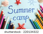 summer camp concept | Shutterstock . vector #220134322