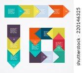 process chart module. vector... | Shutterstock .eps vector #220146325