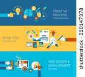 creative process branding web...   Shutterstock .eps vector #220147378