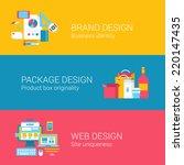 branding package design concept ... | Shutterstock .eps vector #220147435