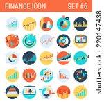 finance infographics flat icons ... | Shutterstock .eps vector #220147438