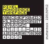 pixel art monospace alphabet ... | Shutterstock .eps vector #220150912