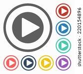 play button icon | Shutterstock .eps vector #220154896