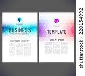 abstract vector template design ... | Shutterstock .eps vector #220154992