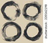 circle halftone grunge textures ... | Shutterstock .eps vector #220162198