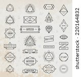 set of vintage hipster labels.... | Shutterstock .eps vector #220164832
