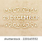 christmas typographic label for ... | Shutterstock .eps vector #220165552