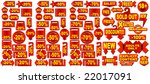 set of 78 vector market tags