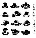 hats collection set. vector | Shutterstock .eps vector #220173496