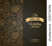 wedding invitation card... | Shutterstock .eps vector #220176436
