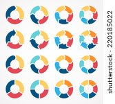 vector circle arrows set for... | Shutterstock .eps vector #220185022