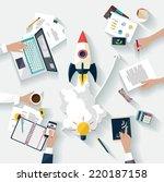 startup concept. flat design. | Shutterstock .eps vector #220187158