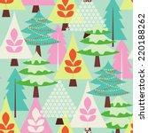 winter fores   seasonal vector... | Shutterstock .eps vector #220188262