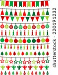 christmas buntings and garlands | Shutterstock .eps vector #220191232