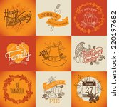 vector collection of nine... | Shutterstock .eps vector #220197682