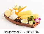 recipe cream   acne. coat with... | Shutterstock . vector #220198102