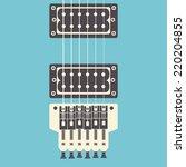 Retro Electric Guitar  Close U...