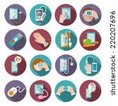 Digital Health Icons Set Of...