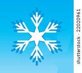 snowflake | Shutterstock .eps vector #22020961