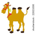 cartoon camel with colored... | Shutterstock . vector #22021030