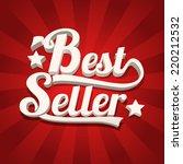 bestseller retro background | Shutterstock .eps vector #220212532
