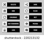 flat black buttons set