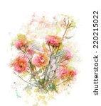 watercolor digital painting of... | Shutterstock . vector #220215022